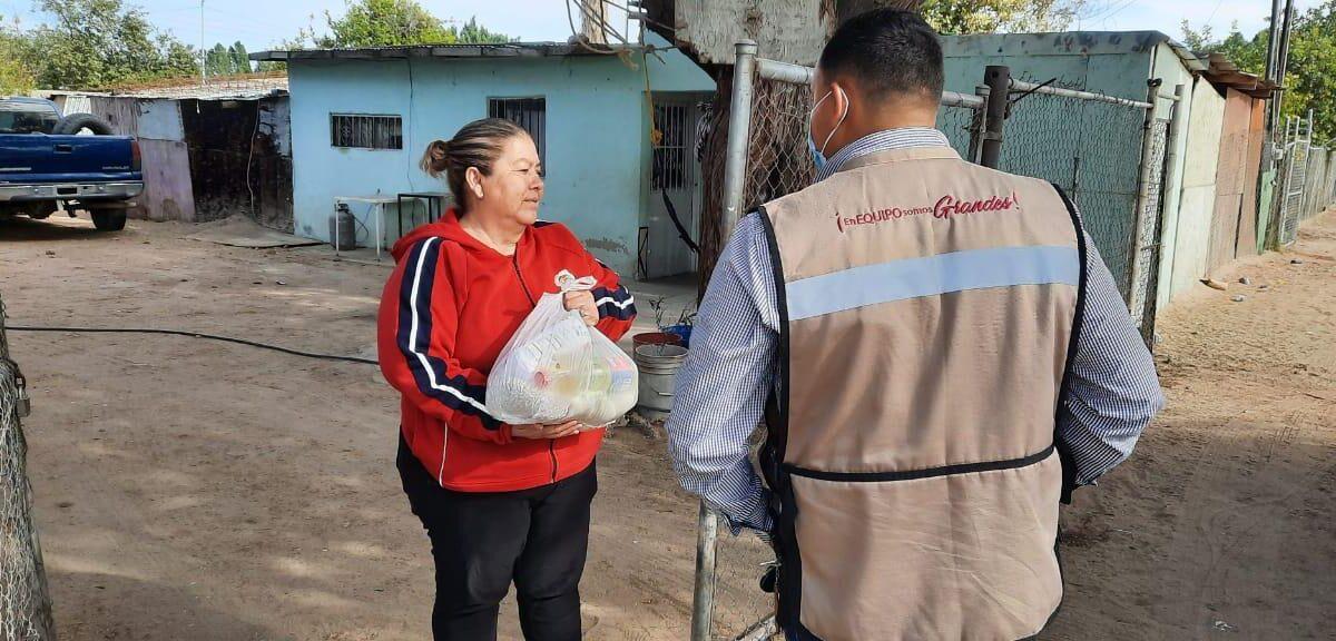 Continúa entrega de despensas a familias vulnerables