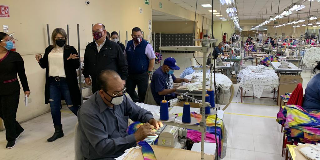 Promueve Alcalde protocolos de salud en el sector industrial