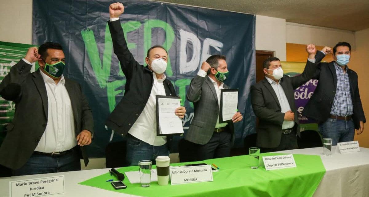 El Verde Ecologista registra como su candidato a Durazo para la gubernatura del Estado