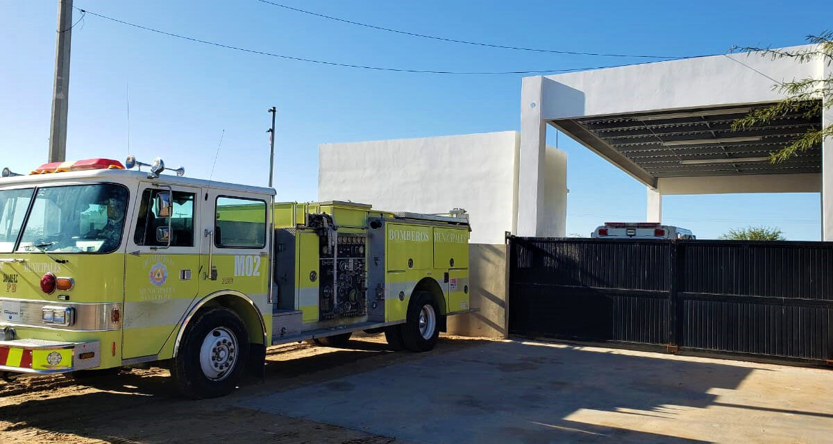 Golfeños se sienten seguros con la nueva base de bomberos en el poblado
