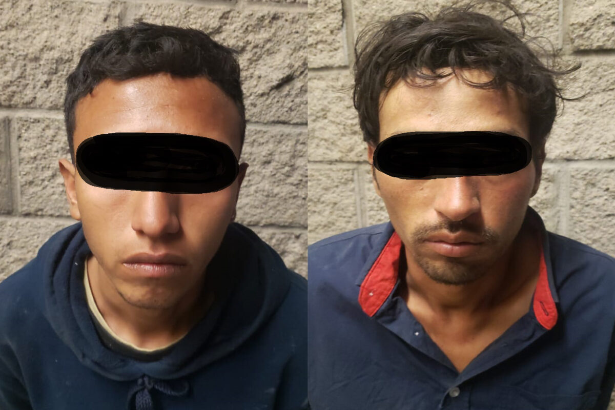 Detienen a dos por robo con violencia en SLRC
