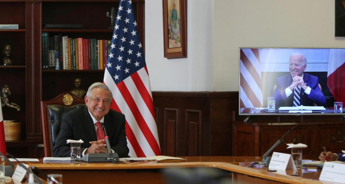 Se reúnen en video llamada los presidentes de México y Estados Unidos