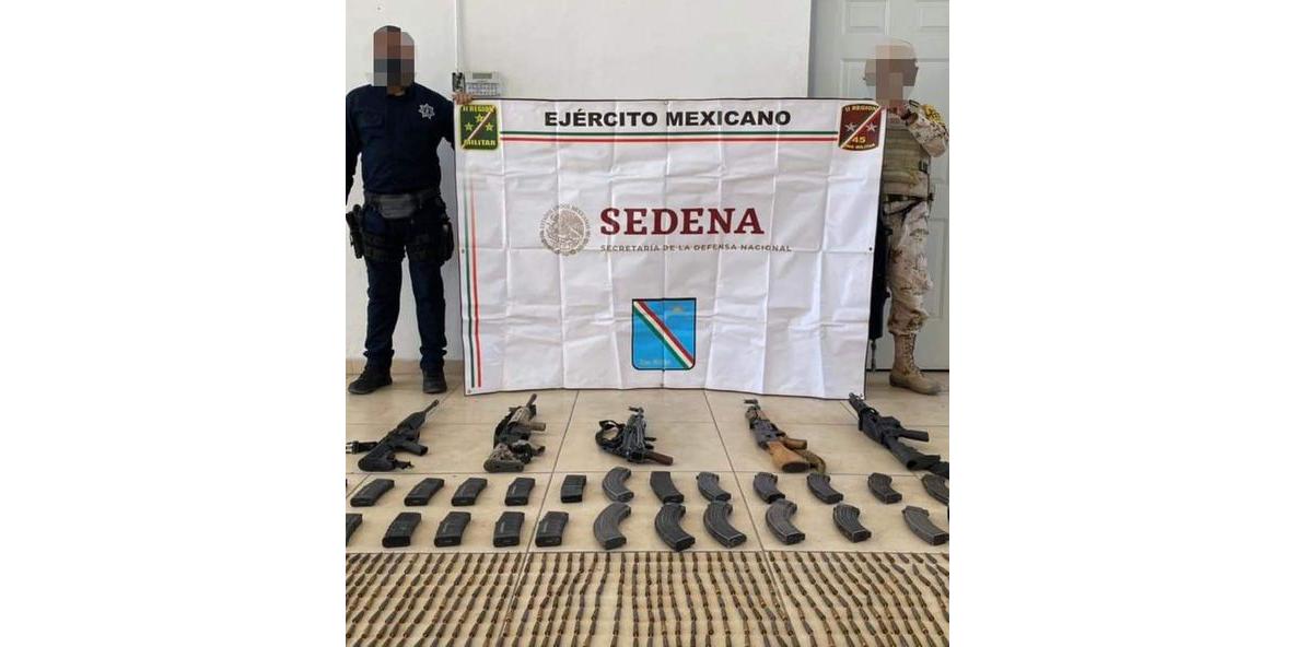 Incautan arsenal en operativo coordinado en el norte del Estado de Sonora