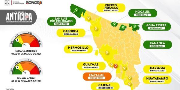 Color verde no significa relajar medidas, protégete del COVID-19: Salud Sonora