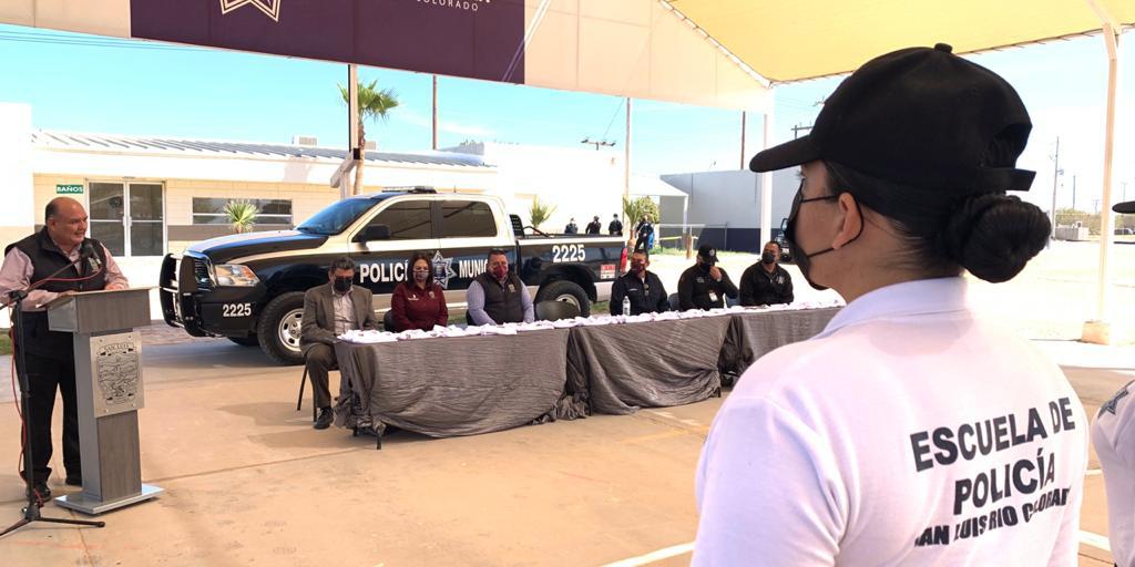 Inicia formación de nuevos policías en San Luis RC