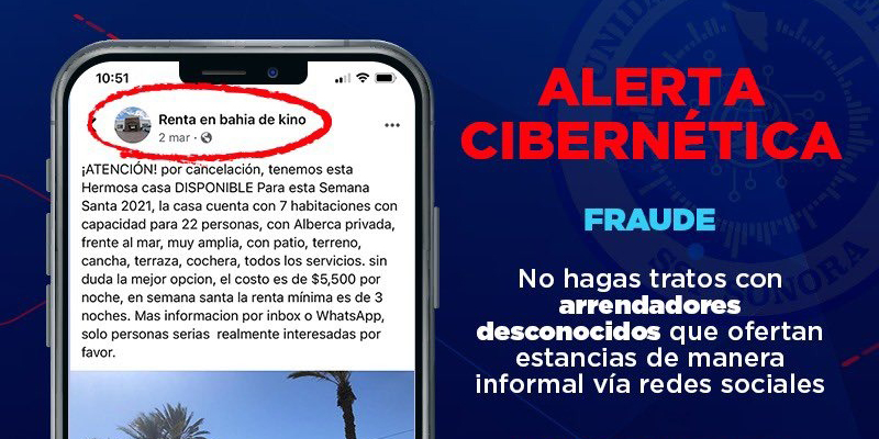 Advierte Unidad Cibernética por fraudes inmobiliarios en línea