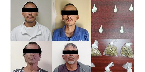 Atrapan a 4 personas en posesión de sustancias prohibidas en SLRC