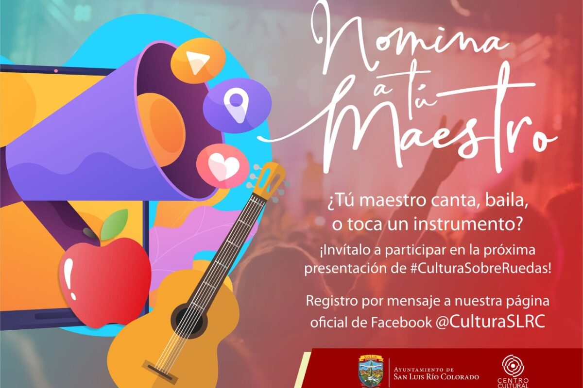 """Invita Centro Cultural a """"Nomina a tu maestro"""""""