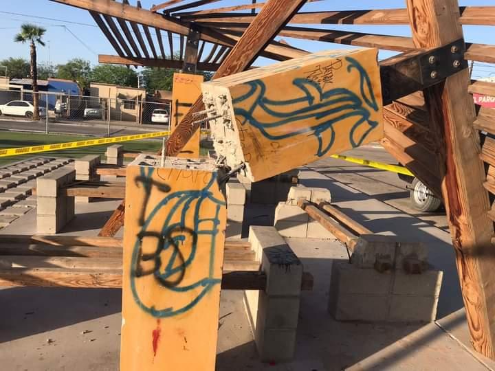 Lamenta Seguridad Pública actos de vandalismo en parque