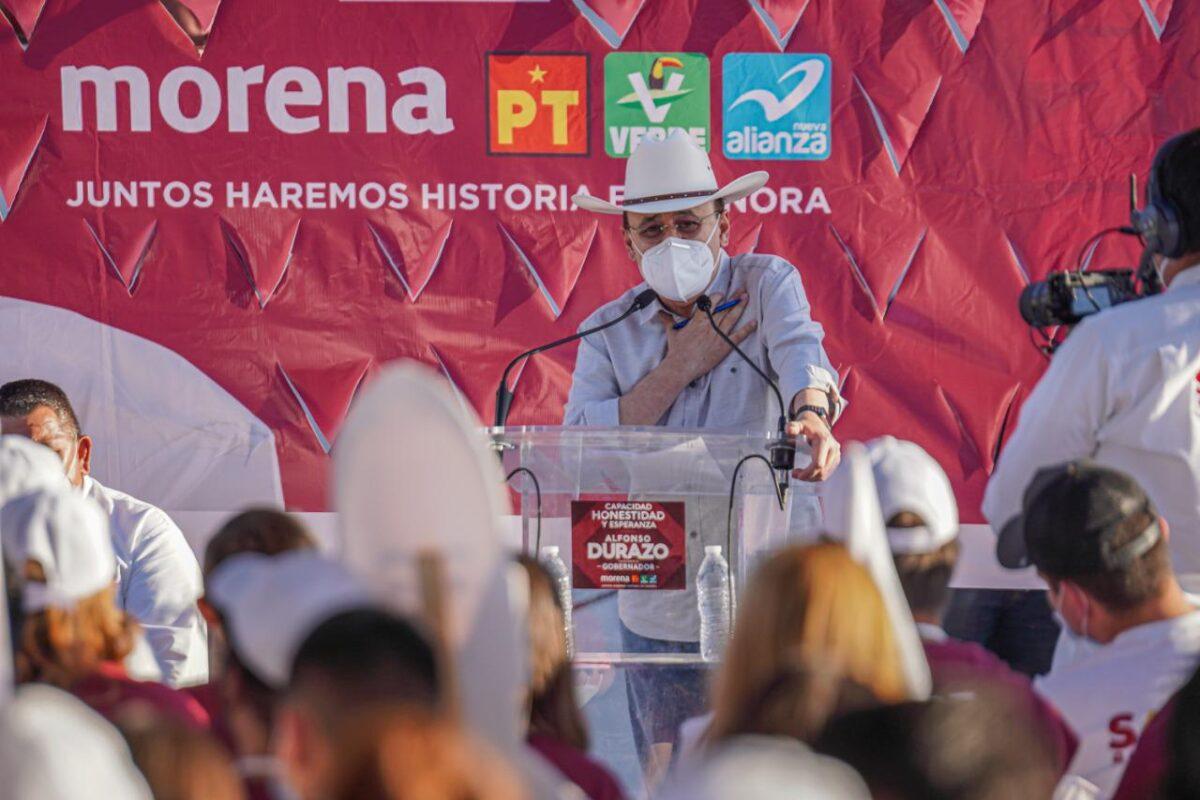 Respalda Durazo a Santos González<br>El mejor Alcalde Morenista de Sonora