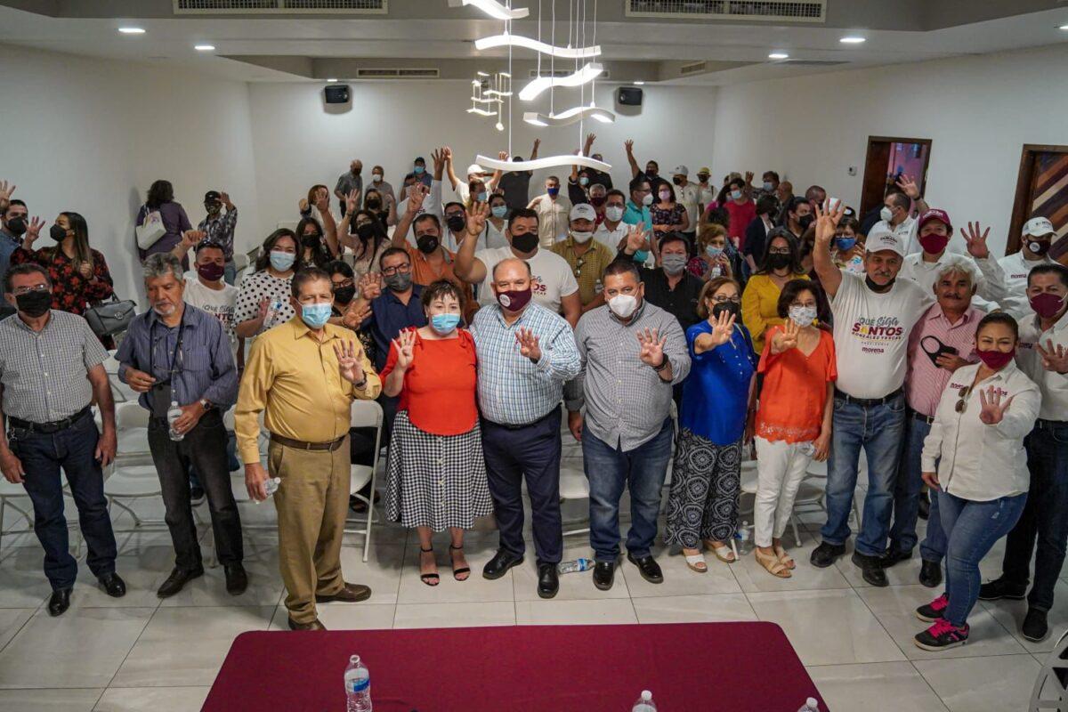Se compromete Santos González a que siga la trasformación en SLRC