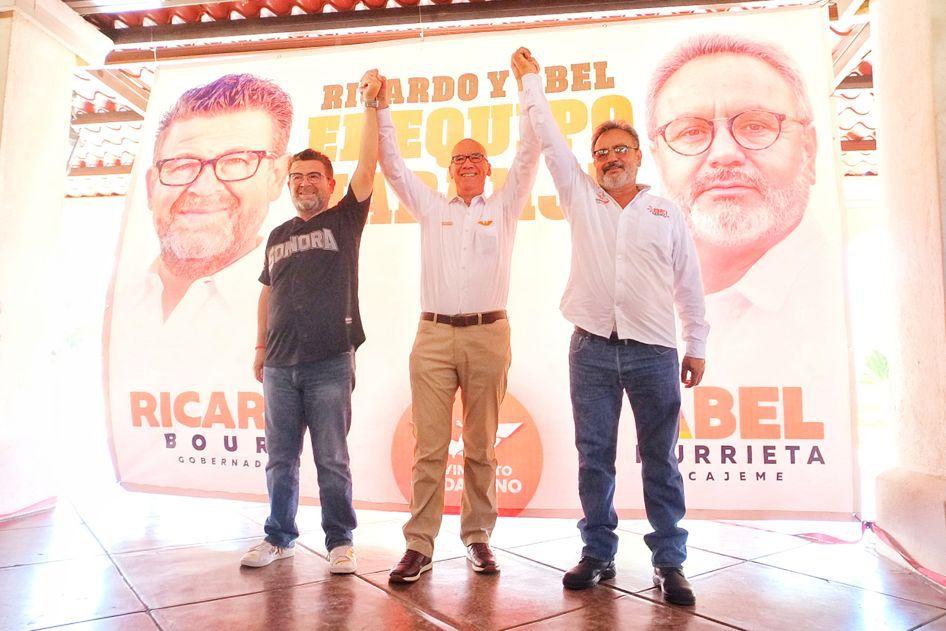 Con Abel Murrieta vamos sin miedo contra la inseguridad en Cajeme: Ricardo Bours