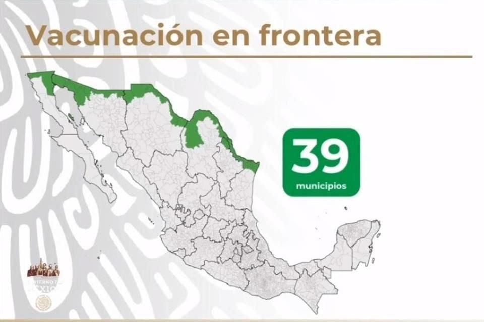 Iniciará esta semana la vacunación en la frontera de personas de 18 a 40