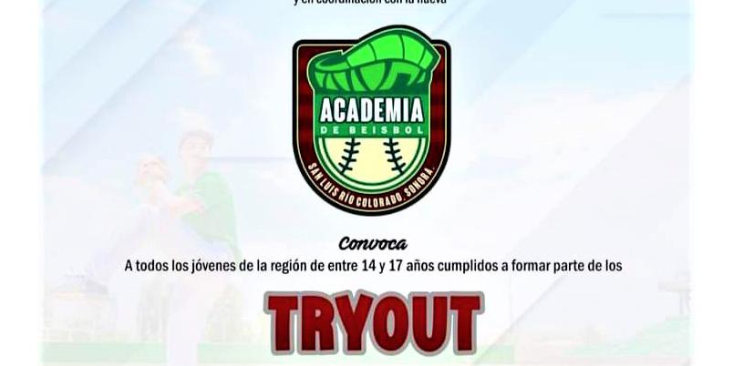 "Invitan a ""try outs"" para conformar academia de béisbol"