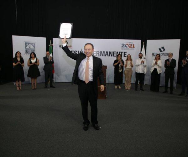 Alfonso Durazo es oficialmente el gobernador electo de Sonora