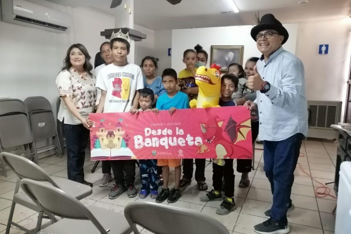 Alegran con cuentos y lecturas a niños migrantes