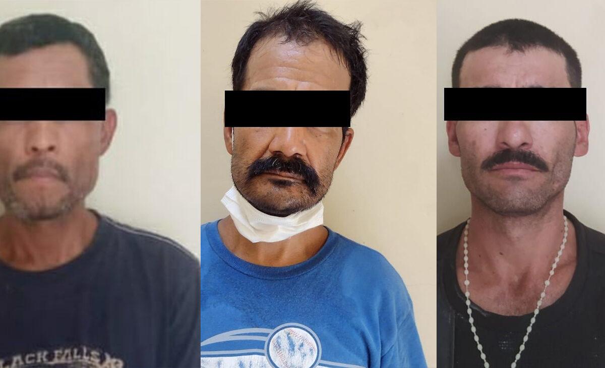 Estatales aseguran narcótico a tres sujetos en San Luis Río Colorado