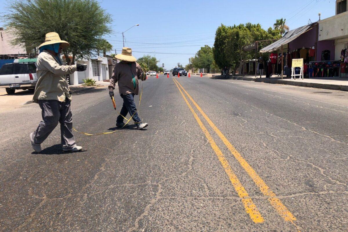 Instalan vialetas en diferentes calles de SLRC