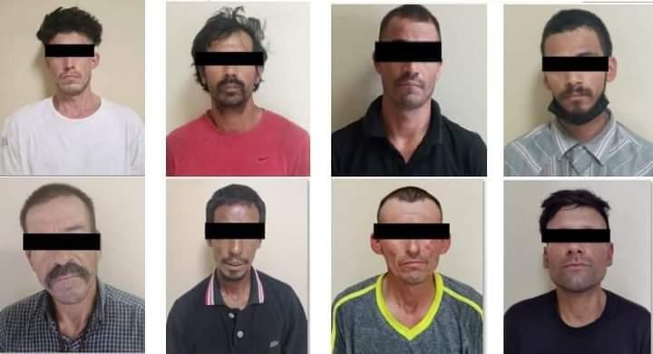 Atrapan estatales a ocho presuntos narcomenudistas en SLRC