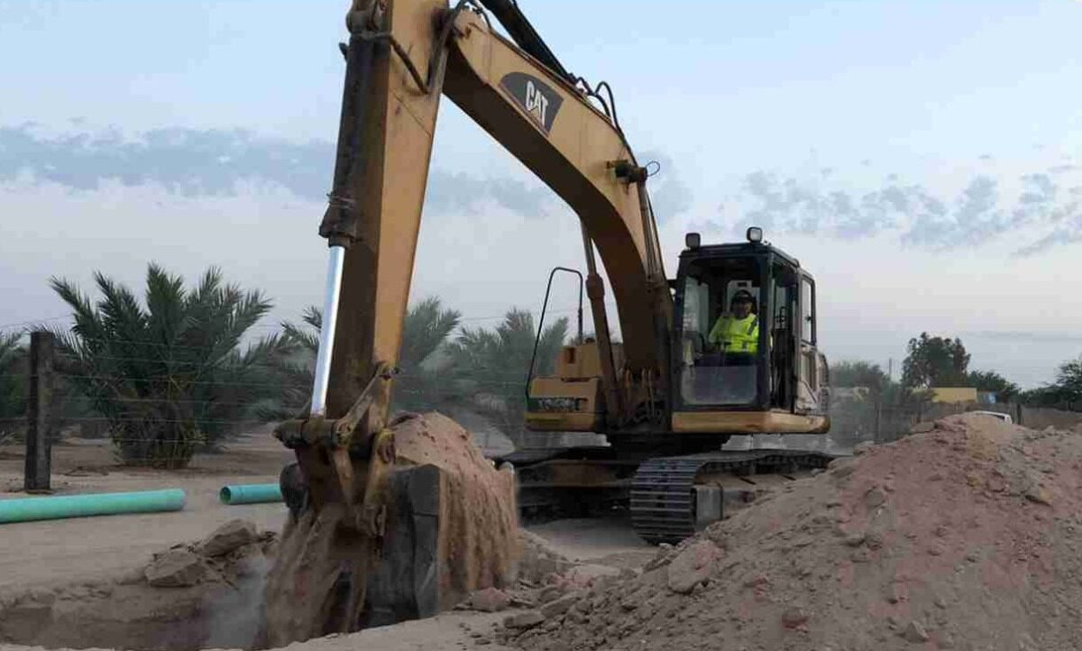 Avanzan excavaciones para drenaje sanitario en Lagunitas