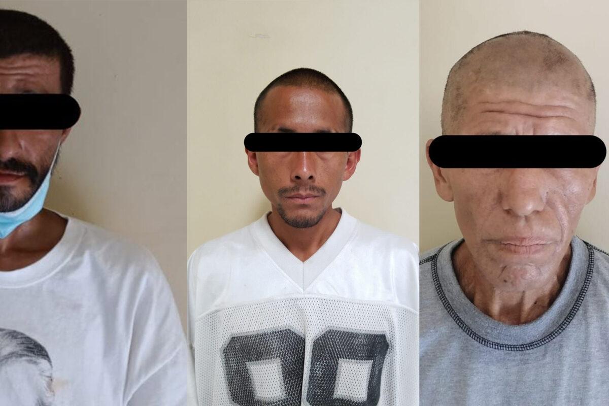 Aseguran a tres sujetos en posesión de drogas en SLRC