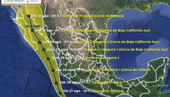 La tormenta tropical Nora se enfila hacia Sonora