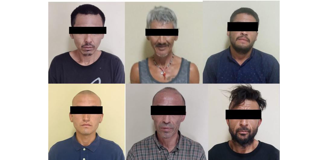 Incautan narcóticos a 6 hombres en San Luis Río Colorado