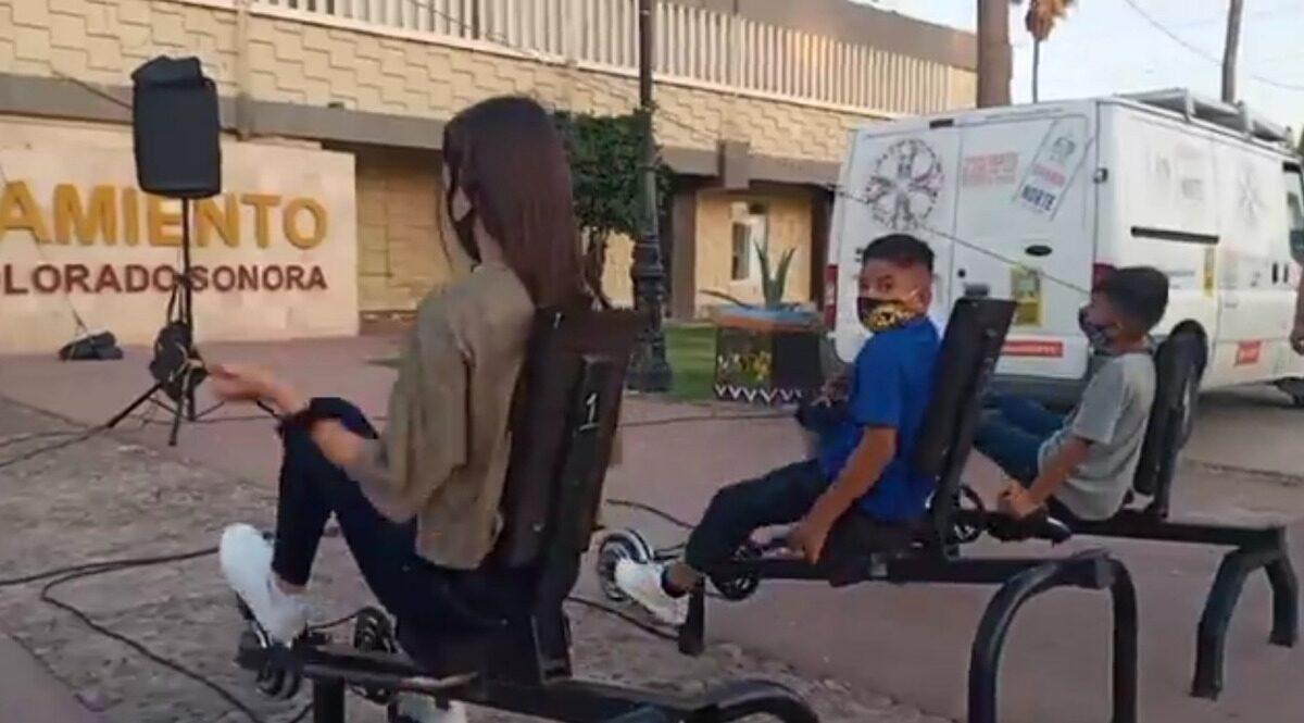 Invitan a pedalear en función de Cine Móvil Toto