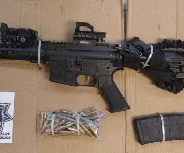 Recupera PESP y SEDENA vehículo robado con armas de fuego en Nogales