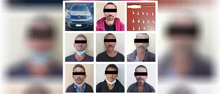 Estatales aseguran en operativo a 16 presuntos delincuentes en SLRC