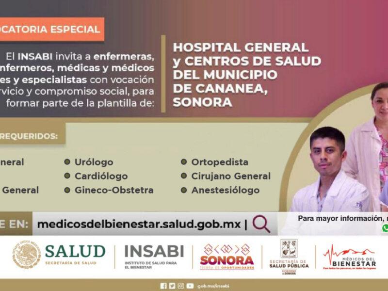 Salud Sonora busca personal médico para Hospital General de Cananea